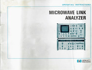 3710A Transmitter and 3702B Microwave Link Analyzer, Operation Instructions | HP
