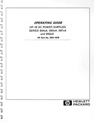 664xA, 665xA, 667xA, 668xA DC Power Supplies Series, Operating Guide | HP