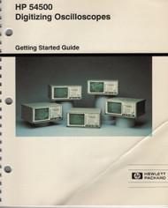 54500 Digital Oscilloscope, Operation Guide | HP