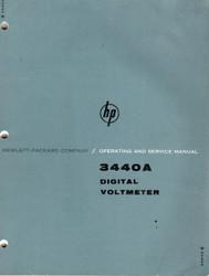 3440A Digital Voltmeter, Operating & Service| HP