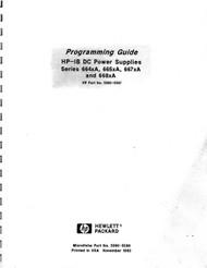 DC Power Supplies Series 664xA, 665xA, 667xA, 668xA Programming Guide (5960-5597)