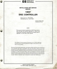 13037 Disc Controller Manual | HP