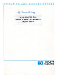 59501B HP-IB Isolated DAC Power Supply Programmer Manual | HP