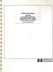 6621A,6622A,6623A,6624A,6627A Operating Manual | HP