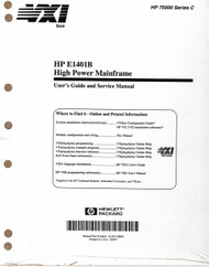 E1401B High Power Mainframe, Manual | HP