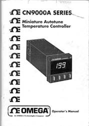 CN9000A Series, Operator's Manual   Omega