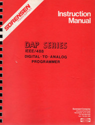 DAP Series Digital to Analog Programmer, Instruction Manual | Sorensen