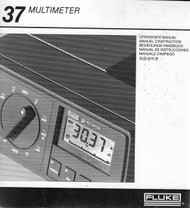 37 Multimeter, Operator's Manual | Fluke