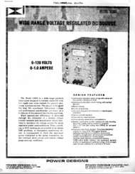 1120S Wide Range Voltage Regulated DC Source, Technical Data | Power Designs