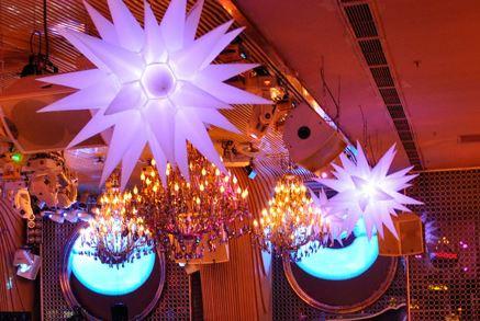 led star inflatable night club decor