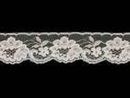 "White Edge Lace Trim w/ Ivory Sheen - 1.875"" (WT0178E02)"