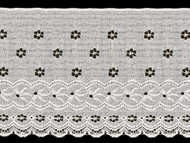 "White Edge Lace Trim Eyelet - 7.375"" (WT0738E01)"