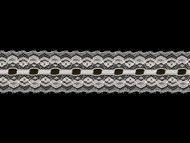 "White Edge Lace Trim - Beading - 1.75"" (WT0134E01)"
