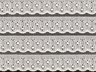 "White Edge Lace Trim Eyelet - 8.375"" (WT0838E01)"