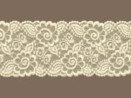 "Ivory  Galloon Stretch Lace Trim - 4"" (IV0400G01)"