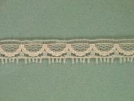 "Lt Peach Edge Lace Trim - 0.375"" (PE0038E01)"