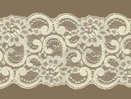 Ivory Galloon Lace Trim  w / Sheen - 5.50'' (IV0534G01)