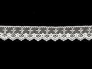 White Edge Lace Trim - 1.25'' (WT0114E12)