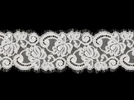 White Galloon Lace Trim w/ Eyelash - 3.5'' (WT0312G02)
