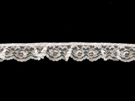 White Ruffled Edge Lace Trim - 1.25'' (WT0114U02)