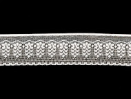 White Edge Lace Trim - 2'' (WT0200E10)