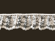 White Ruffled Edge Lace Trim - 3'' (WT0300U04)