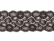 "Black Galloon Lace Trim - 4""- (BK0400G05)"