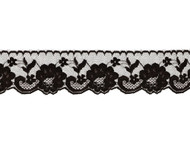 "Black Edge Lace Trim - 2.5"" - (BK0212E05)"
