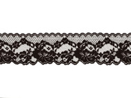 Black Edge Lace Trim - 2.625 - (BK0258E02)