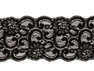 "Black Galloon Lace Trim - 5"" - (BK0500G04)"
