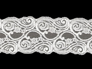 "Off White Galloon Lace Trim - 3.5"" -(WT0312G03)"