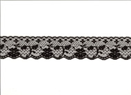 "Black Edge Lace Trim - 2"" - (BK0200E04)"