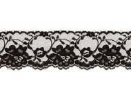 """Black Edge Lace Trim - 2.375"""" - (BK0238E05)"""