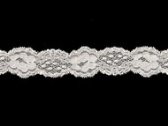 "White Galloon Stretch Lace - 1.25"" - (WT0114G01)"