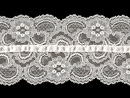 "White Galloon Lace with Ribbon - 3.5"" - (WT0312U01)"