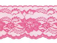 "Shocking Pink Edge Lace Stiff - 4"" (PK0400E01)"