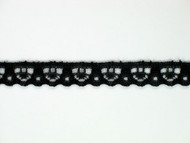 "Black Edge Lace Trim - 0.375"" (BK0038E01)"