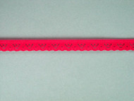 "Bright Fuchsia Edge Lace Trim - 0.375"" (FS0038E02)"