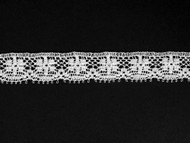 "White Edge Lace Trim - 0.5"" (WT0012E02)"