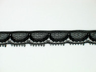 "Black Edge Lace Trim - 0.375"" (BK0038E03)"