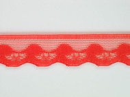"Coral Pink Edge Lace Trim - 0.75"" (CP0034E01)"