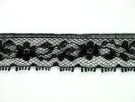 """Black Edge Lace Trim - 0.75"""" (BK0034E04)"""