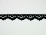 "Black Edge Lace Trim - 0.5"" (BK0012E02)"