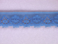"Azure Blue Edge Lace Trim - 0.625"" (AZ0058E02)"