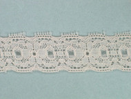 "Bisque Edge Lace Trim - 1"" (BQ0100E01)"