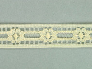 "Ivory Insertion Lace Trim - 0.625"" (IV0058E03)"