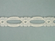 "Ivory Galloon Lace Trim - Beading - 0.75"" (IV0034G01)"