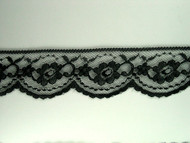 "Black Edge Lace Trim - 2.125"" (BK0218E01)"