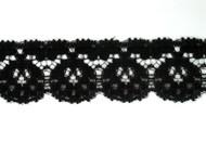 """Black Edge Lace Trim - 1.25"""" (BK0114E01)"""