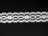 "White Galloon Lace Trim - Beading - 0.75"" (WT0034G01)"